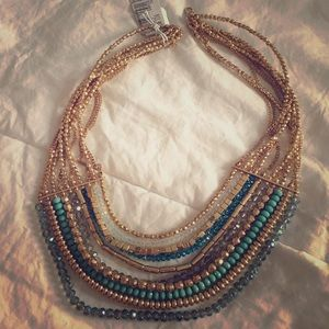 Beautiful green and gold necklace
